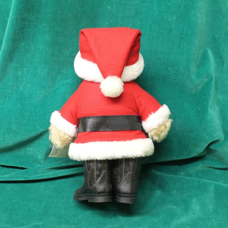 Paddington Bear Santa by Eden Toys 1982 1983 style no 32966 with all original tags 1975 copyright Christmas teddy bear