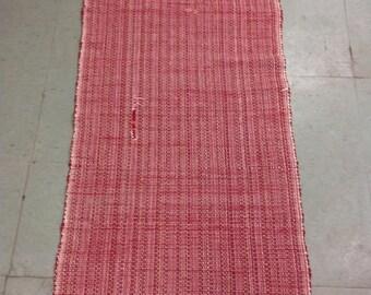 Vintage Hand Loomed Rag Rug