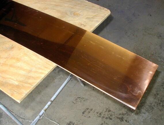 """24 gauge metalwork craft NEW 3/"""" x 60/"""" Copper Sheet 16 oz"""