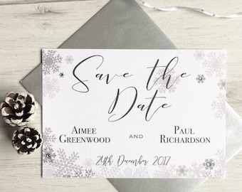 Christmas Winter Wedding Save The Date Cards, Snow Wedding Invitation, Winter Save The Date, Winter Wedding Invitation, Winter Save the Date