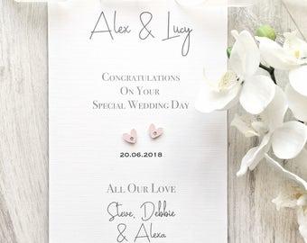 Personalised Wedding Card, Wedding Day Card, Couples Wedding Card, Personalised Card, Personalised Wedding Day Card, Wedding Card, Wedding