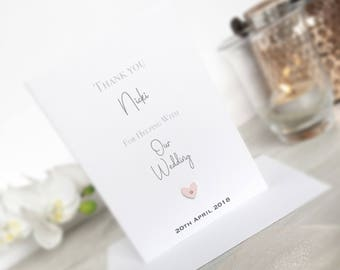 Personalised Wedding Card, Thank You Card, Wedding Card, Thank You for Helping Card, Wedding Thank you Card, Wedding Supplier Card