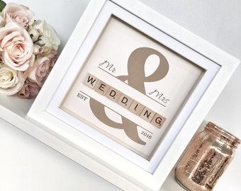Personalised Wedding Frame gift, Personalised Wedding Gift, Personalised Frame, Wedding Gift, Scrabble frame Gift, Wedding Present
