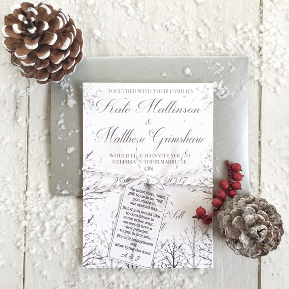 Christmas Wedding Invitations.Sample Winter Wedding Invitations Christmas Wedding Invitations Snow Wedding Invitation Winter Wedding Rustic Invitation White Wedding