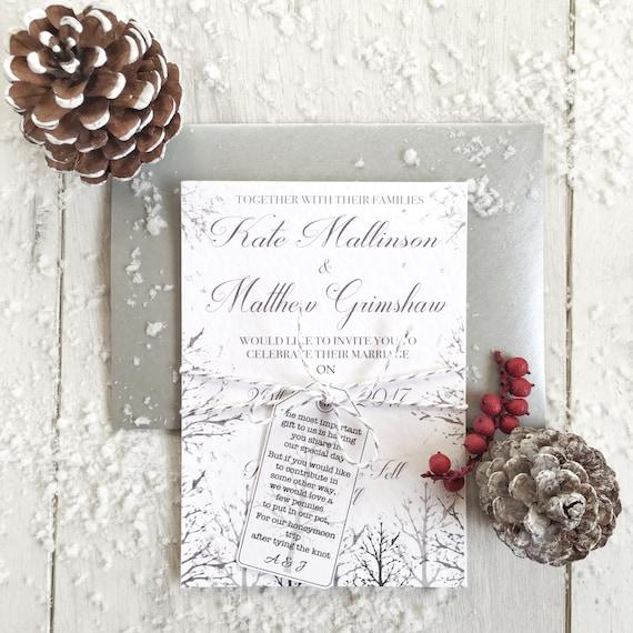Probe Winter Hochzeit Weihnachten Hochzeit Einladungen