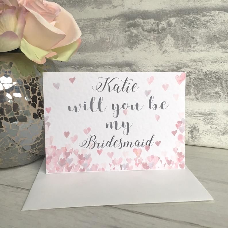 Bridesmaid Invite Card Will You Be Card Bridesmaid Invite Will You be My Bridesmaid Card Bridesmaid Bridesmaid Card Will You Be Card