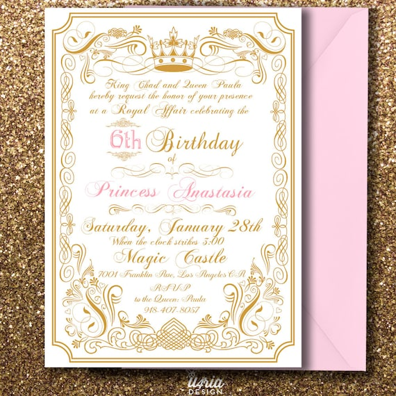 Royal Princess Birthday Invitation Prince