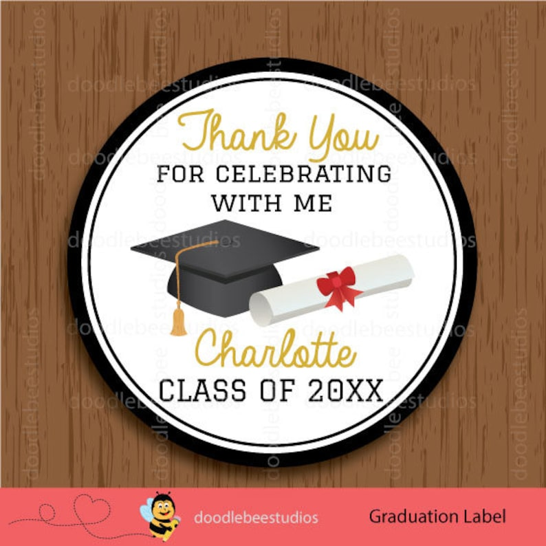 photo about Free Printable Graduation Labels titled Commencement Desire Tags, Printable Commencement Labels, Commencement Tags, Commencement Celebration Printables, Faculty Choose Tags, Cl Commencement Tags