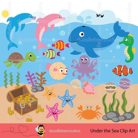 Sea Life Clipart Sea Creatures Clip Art Sealife Clipart ...