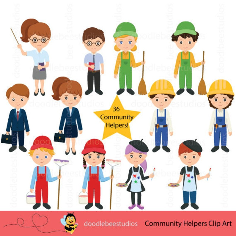 Community Helpers Clipart Community Clipartcareer Day Etsy