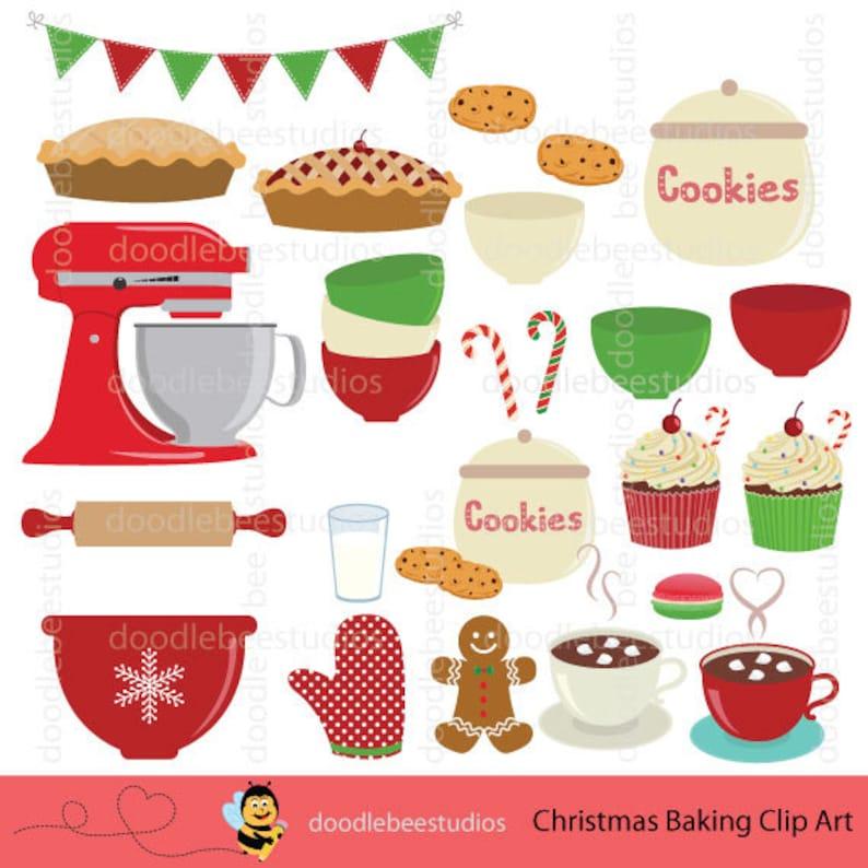 Christmas Goodies Clipart Baking Utensils Clip Art Christmas Baking Clipart Baking Equipment Holiday Baking Clip Art Baking Clipart