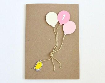1st Birthday Card Cute Cards Birthday Cards Birthday Cards 1st Birthday Girl 1st Birthday Boy 1st Birthday Gift 2nd Birthday 3rd Birthday
