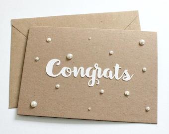 Pearl Wedding Card Wedding Card Congratulations Wedding Card Personalised Wedding Card Bride And Groom Gift Baby Card Baby Boy Baby Girl