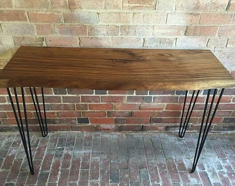 African walnut console table