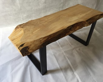 Live edge sycamore coffee table