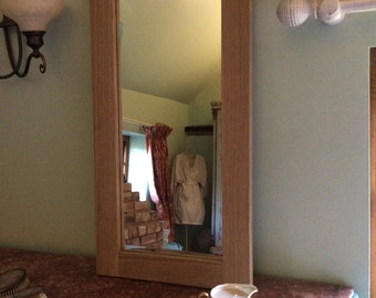 Oak Rectangular Mirror