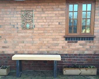 Chunky Cedar Garden bench