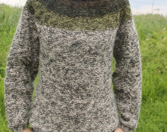 Unisex knit icelandic sweater made of pure, unspun icelandic wool, MADE TO ORDER.