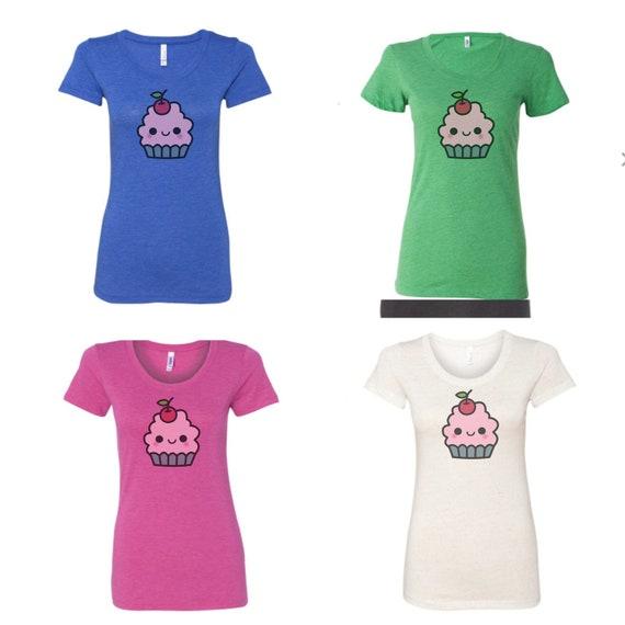 Cupcake Shirt Kawaii Shirt Cute Shirt Food Shirt Vegan  d3c2408021c0