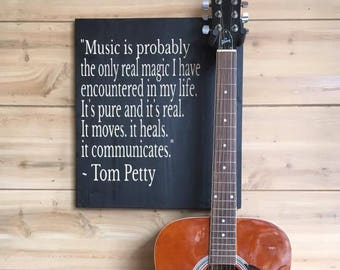 Guitar Wall Hanger / Tom Petty Quote