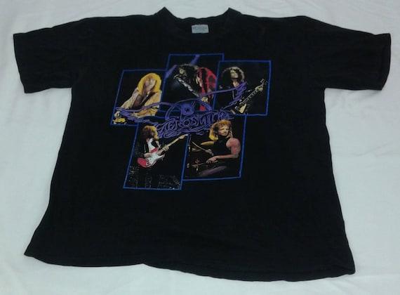 Vintage 1990 Aerosmith Pump Tour Brockum Tshirt Si