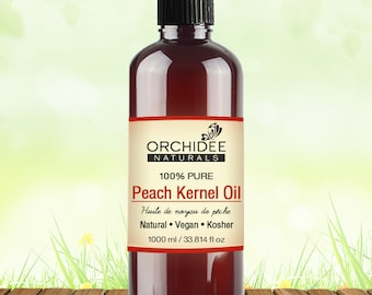 1000mL Pure Peach Kernel Oil - Vegan, Kosher Certified