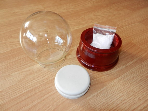 Snow Globe Kit (100mm glass dome, wooden base) - ideal Christmas gift!