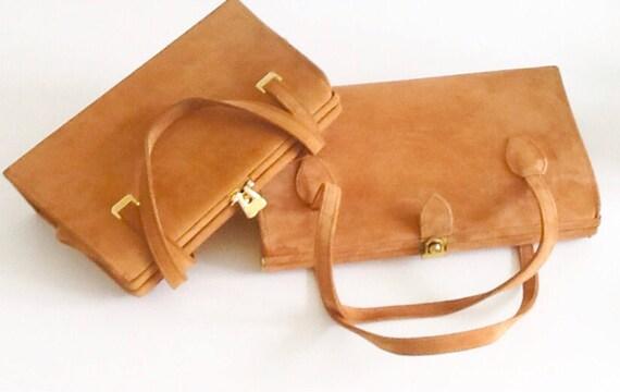 02808cd8c3 Sacs à main Vintage cuir de cerf fabriqués en Ecosse   Etsy