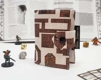 Dungeon Map Spell book - Card holder - RPG Accessories - DnD Gifts