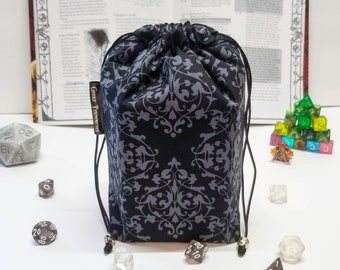 Gothic Dice Bag, DnD Dice Bag, DnD Accessories, Dungeons and Dragons Gifts, Dungeon Master Gifts