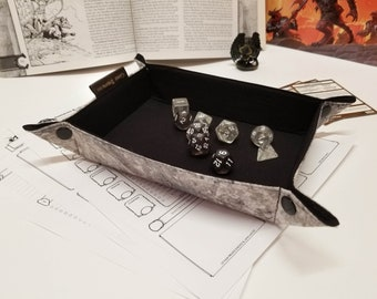 Folding dice tray - Collapsible Travel Tray - D&D Gift - Geeky Gifts - Gifts for Gamers