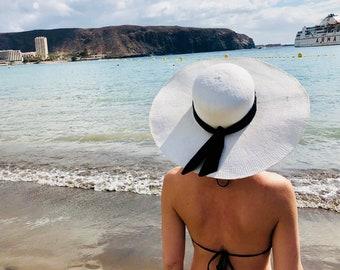 Handmade Wide Brim Straw Summer Hat