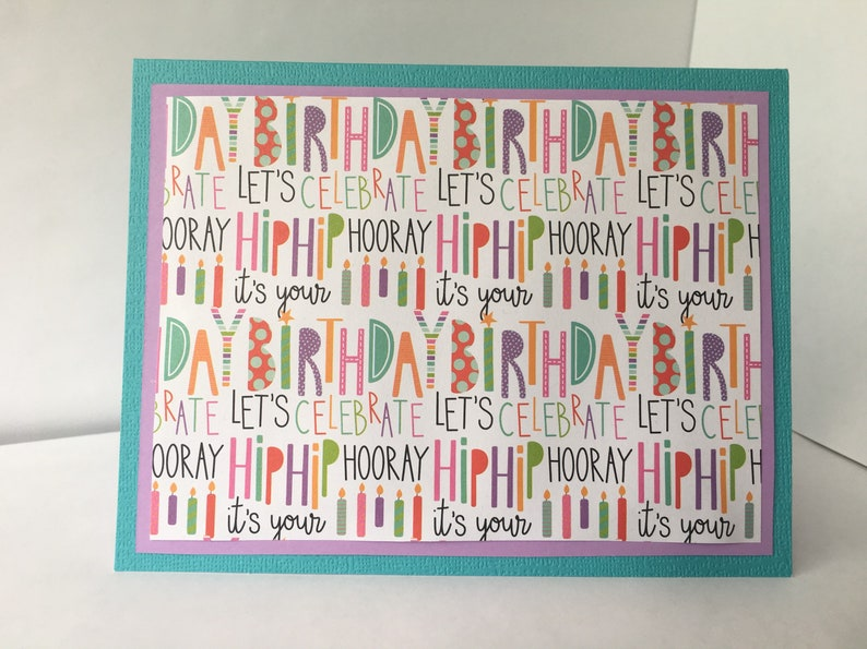 Funky And Fun Happy Birthday Card Collage Handmade