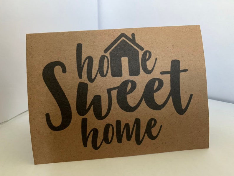 Handmade Home Sweet Home for New Homeowners or Those Who Just Moved