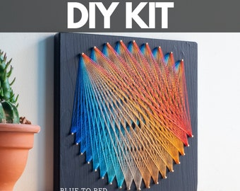 String art kit for adults and kids, string art mandala wall decor, great DIY gift for friends and family, art kits for teens and adults