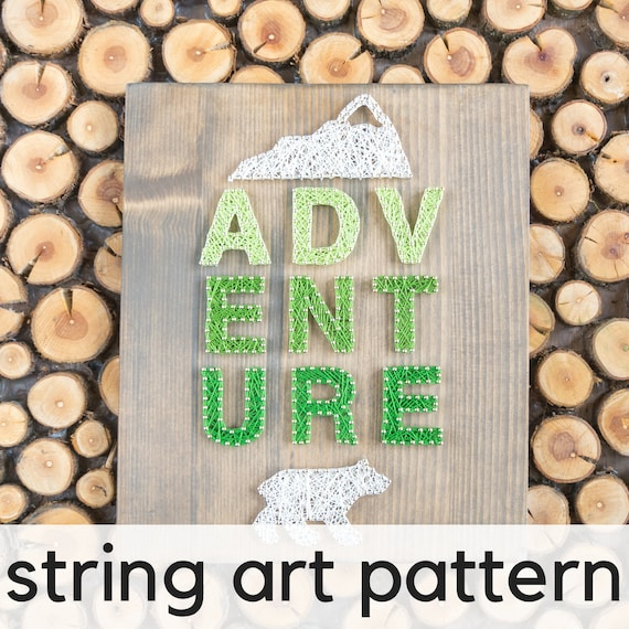 Number 6 DIY string art pattern with instructions