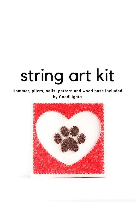 Pfote in Herz String Art Set String Art Set für Erwachsene