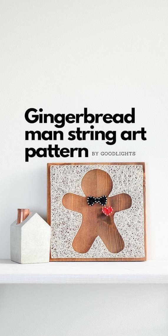 Christmas String Art Pattern Printable Christmas Gingerbread Etsy