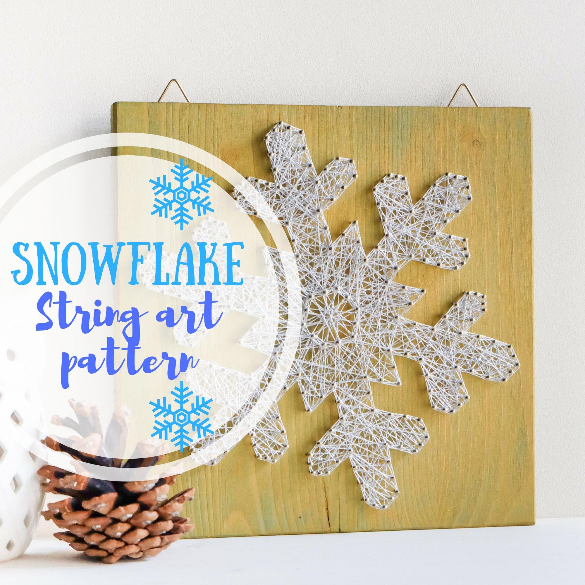 Christmas string art pattern printable Christmas snowflake