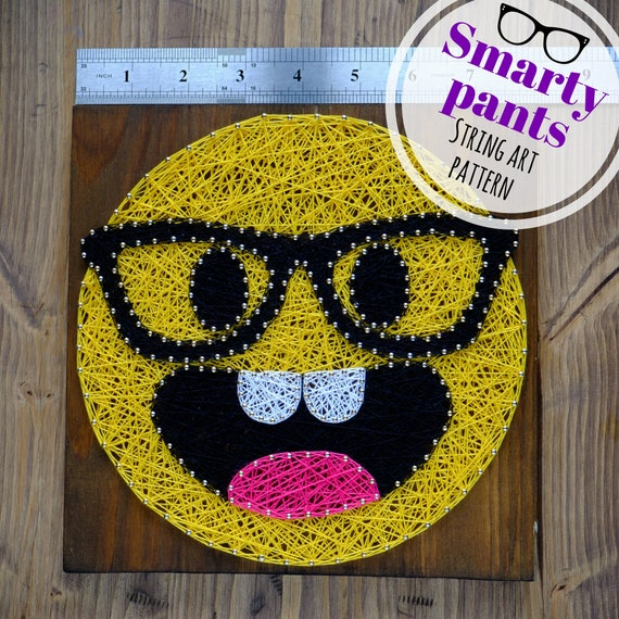 Smarty pants emoji string art template pattern diy string etsy smarty pants emoji string art template pattern diy string art dot pattern digital download with additional instructions 79 x 79 maxwellsz