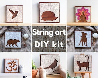 DIY Craft Kit for Adults and Kids String Art DIY Kits with Modern Silhouette Designs DIY Art Kit for Kids Adults Hobby Crafting Project