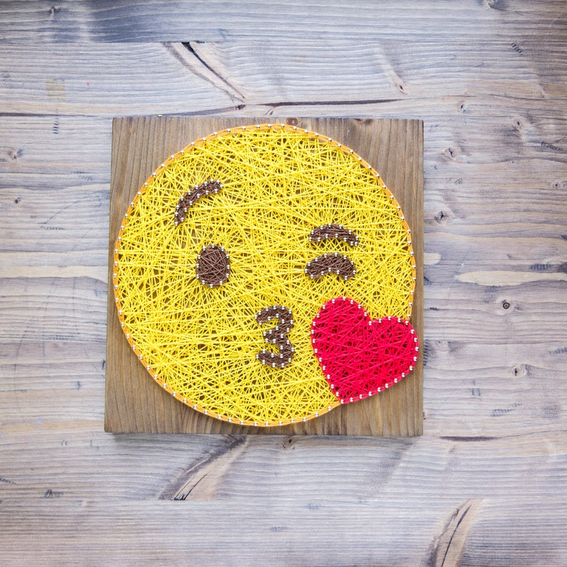 quality tools included step by step string art DIY kit DIY string art kit for adults and kids Easter string art kit emoji string art