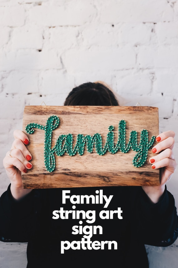 photograph regarding String Art Printable Patterns known as Loved ones indicator Do-it-yourself string artwork routine, Easter string artwork printable template, wintertime signs or symptoms Do it yourself behavior for small children and grown ups, Do-it-yourself indication package