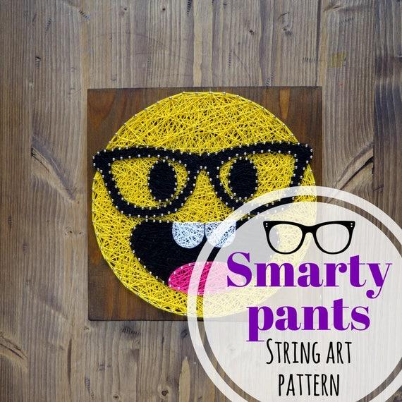 String art pattern printable smarty pants emoji diy template etsy image 0 maxwellsz
