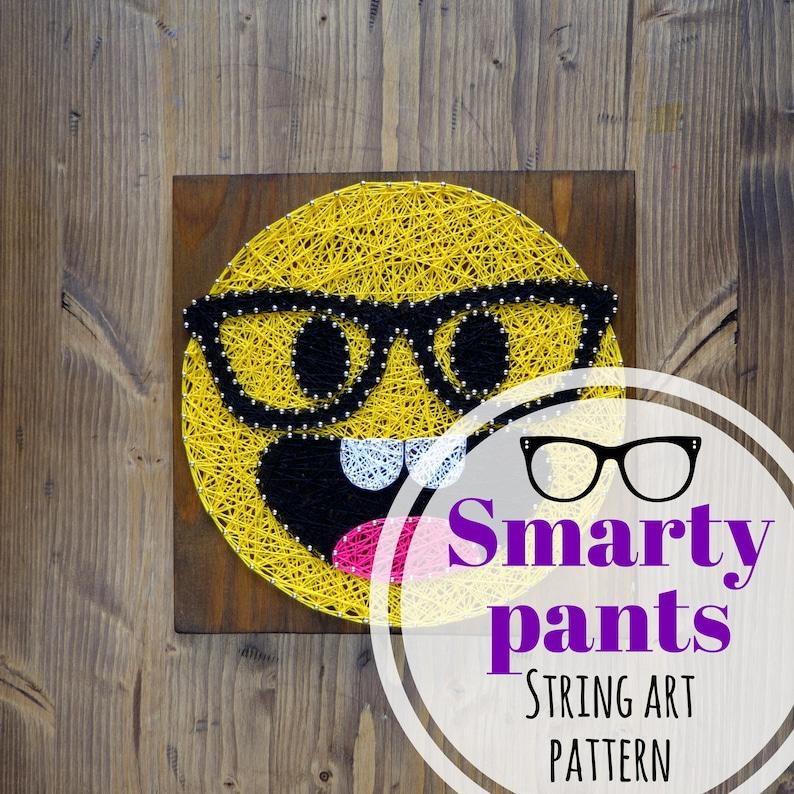 String Art Pattern Printable Smarty Pants Emoji Diy Template Etsy