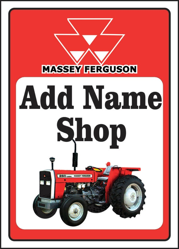 Massey Ferguson Tractor Sign 24cm Cast Iron Plaque Retro Agricultural Farm Barn