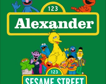 Sesame Street  Sign  Room Sign or Door Sign -Add Name- FREE SHIPPING!