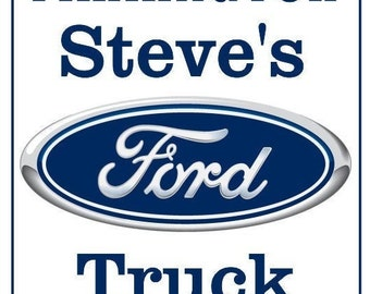 Personalized Ford Parking Sign FREE SHIPPING