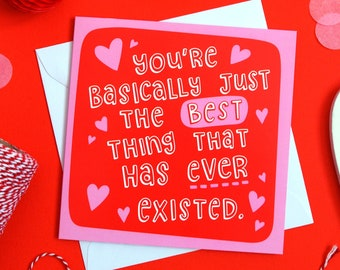 Cute Anniversary Card, Love You Card, Cute Valentines Day Card, Valentines Cards, Happy Anniversary Card, Cute Love Card, Romantic Card