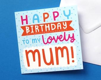 Mums Birthday Card, Birthday Card For Mum, Cute Card For Mum, Birthday Card For Mom, Sweet Card For Mum, Mums Birthday, Happy Birthday Card